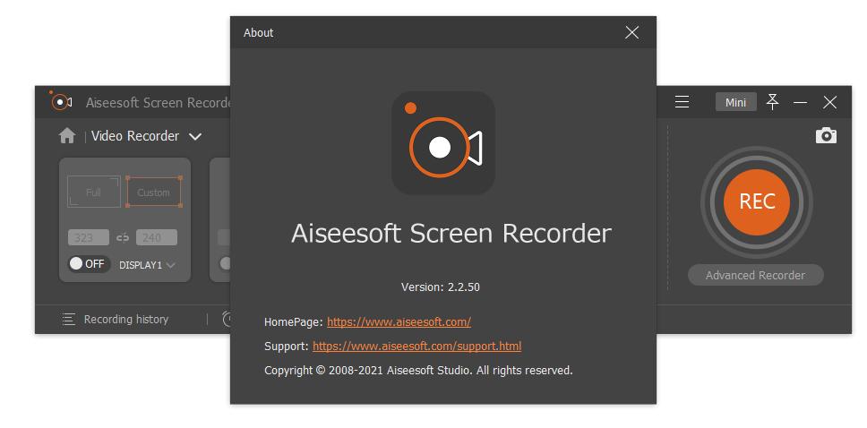 aiseesoftscreenrecorder2.2.50