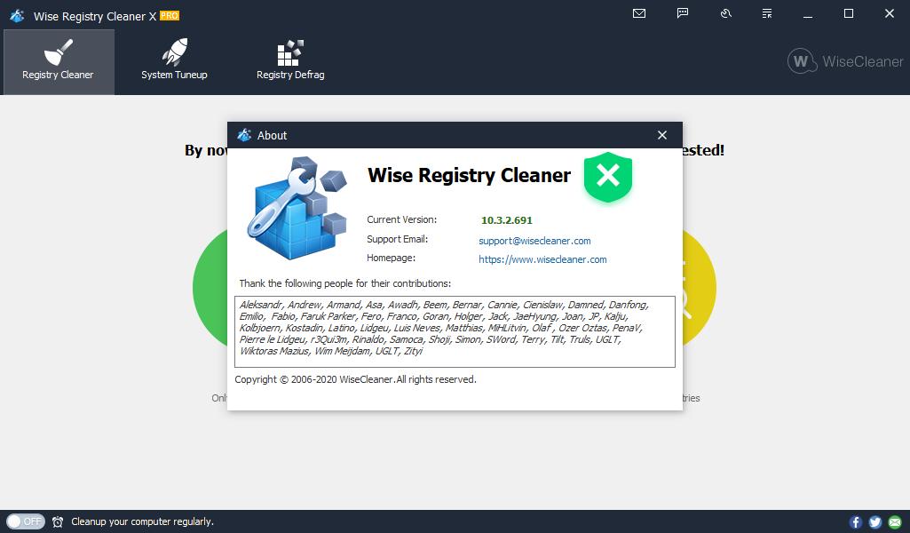 wiseregistrycleaner10.3
