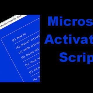 Microsoft Activation Scripts