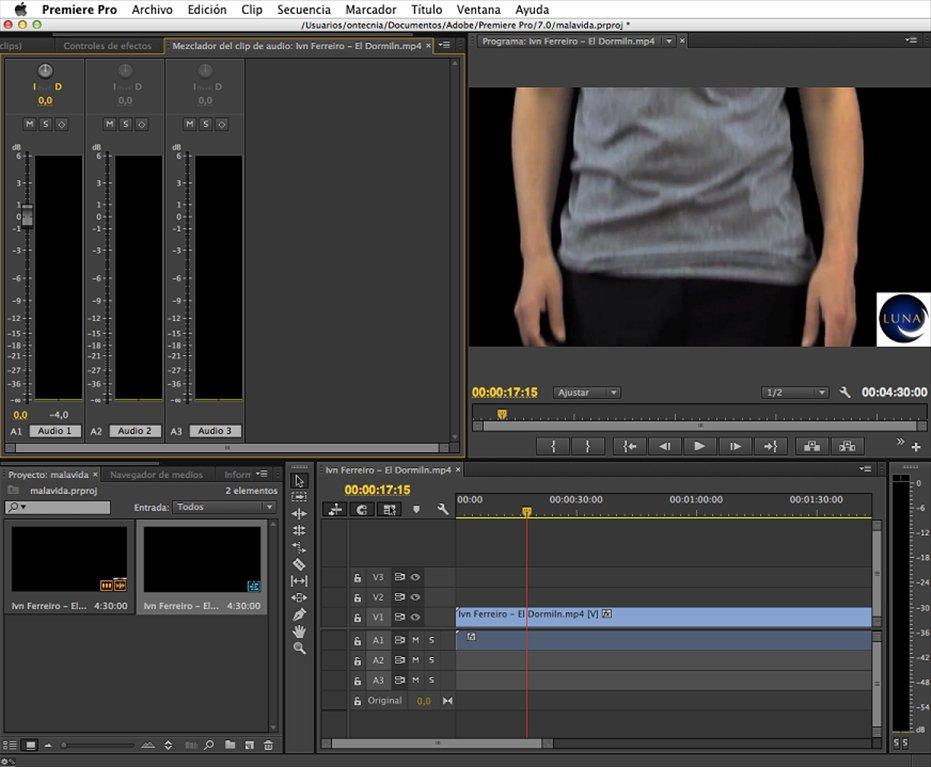 Adobe Premiere Pro mac1