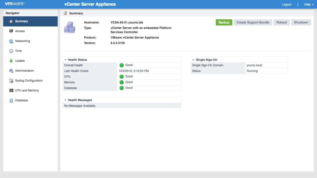 VMWARE VCENTER Server1