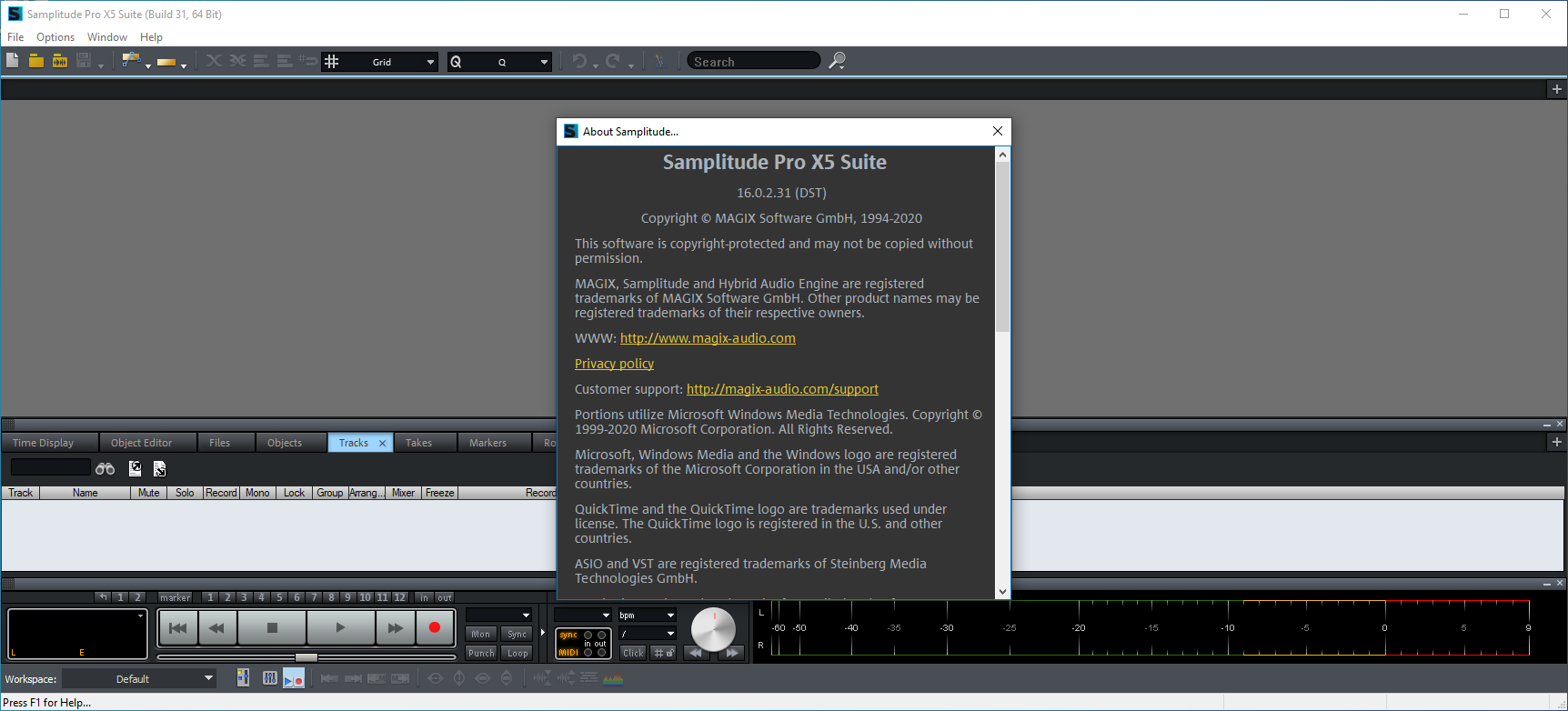 samplitudeprox516.0.2.31