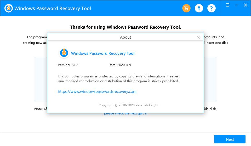 windowspasswordrecoverytool7.1.2