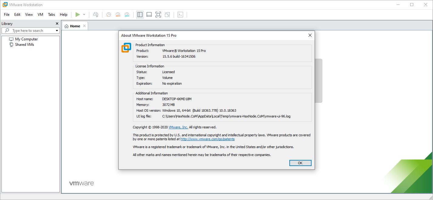 vmwareworkstationpro15.5.6b1634