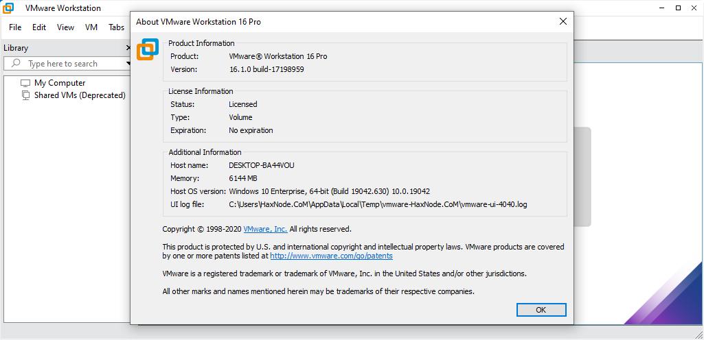 vmwareworkstation16.1.0