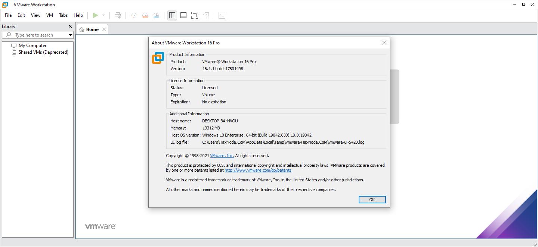 vmwareworkstation16.1.1lite