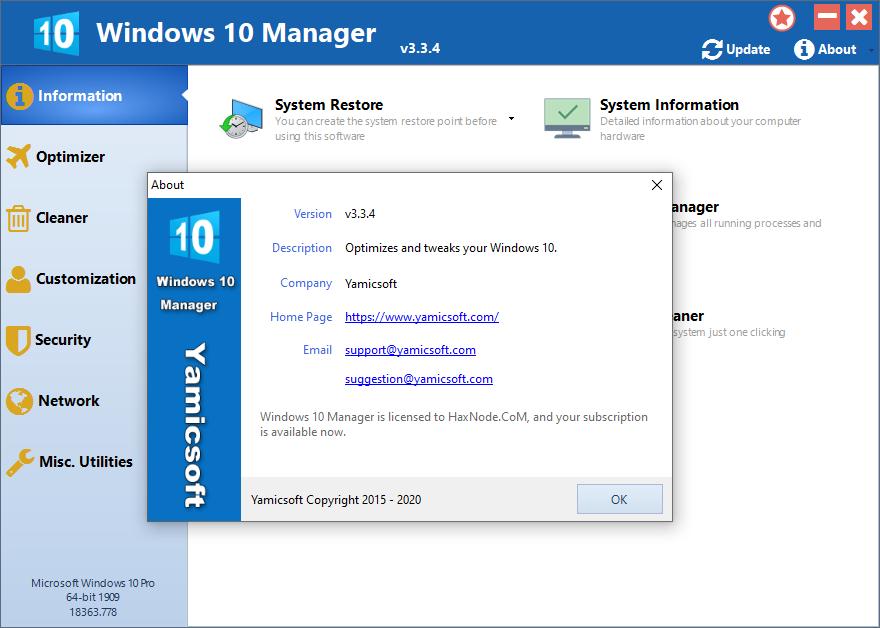 yamicsoftwin10manager3.3.4