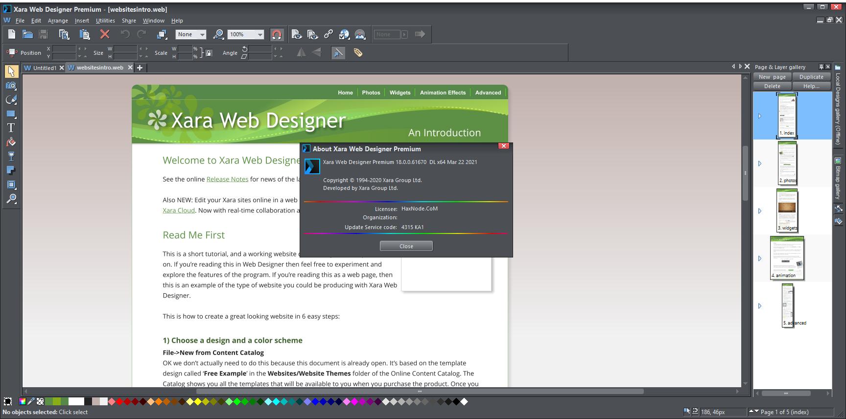 xarawebdesigner18.0.0.61670