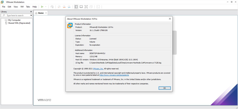 vmwareworkstation16.1.12lite