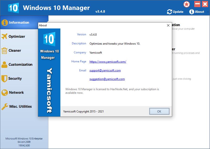 yamicsoftwin10manager3.4.8